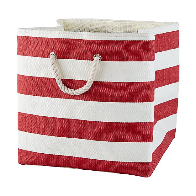 Stripes Around the Floor Bin (Red)