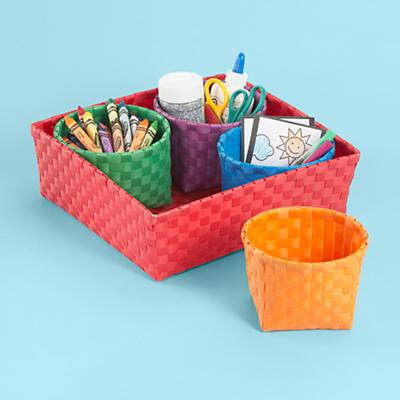 Red 4 Bin Strapping Storage Set