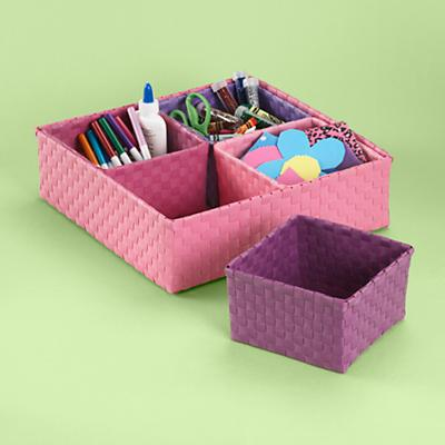 Pink 4 Bin Strapping Caddy