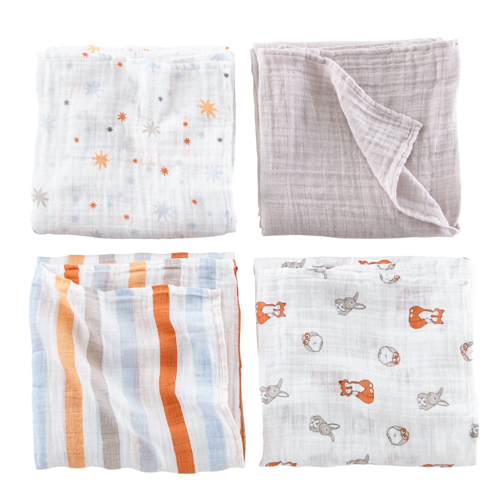 aden + anais Forest Friends Swaddle Blankets