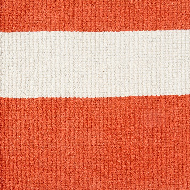 Barcode Red Rug Swatch