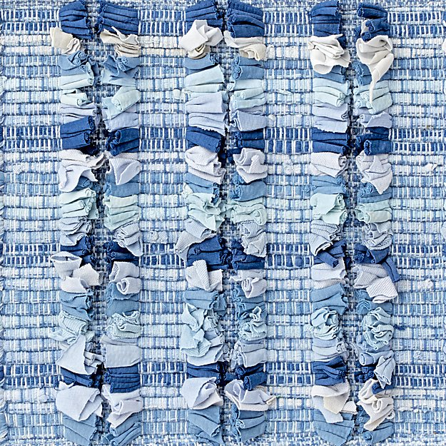 Blue Check Rug Swatch