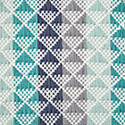 Pyramid Blue Reversible Rug Swatch