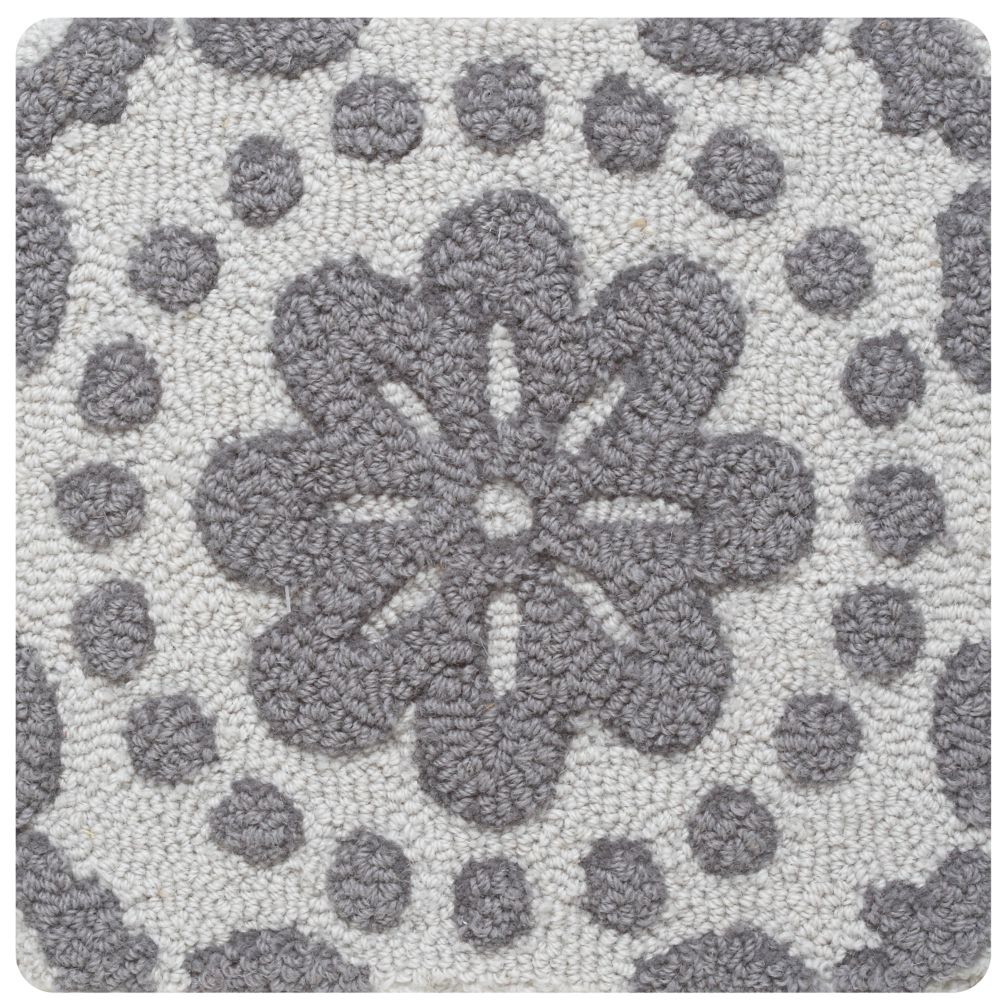 Grey Garden Path Rug Swatch