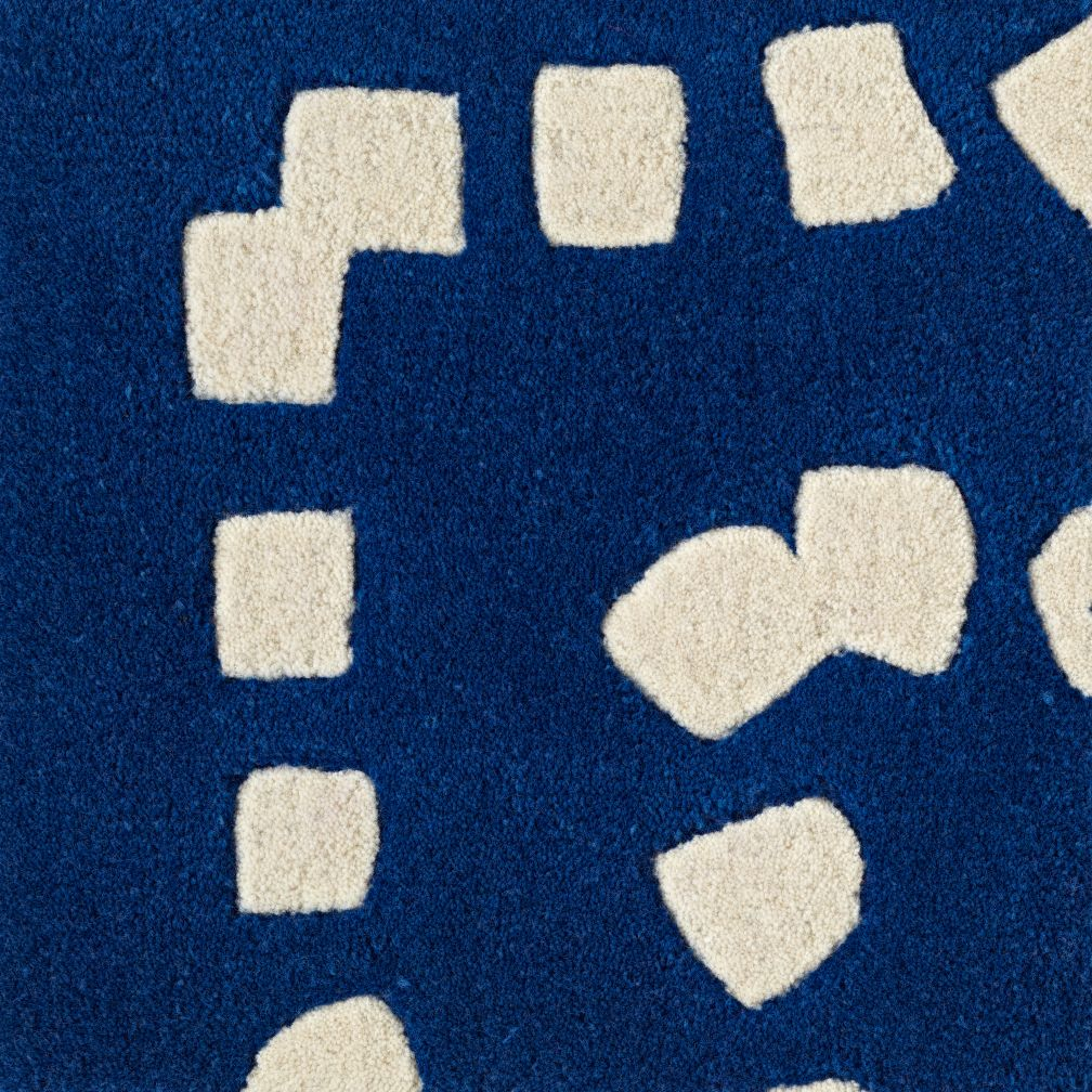 Blue Square Drops Rug Swatch