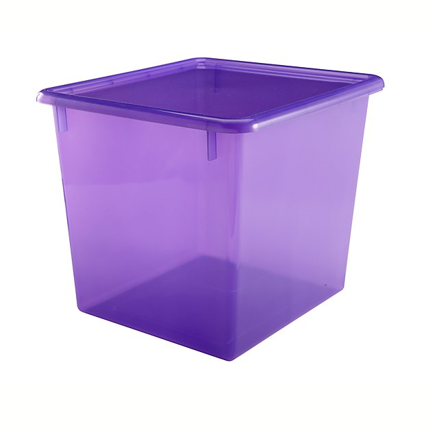 Purple Cube Top Box