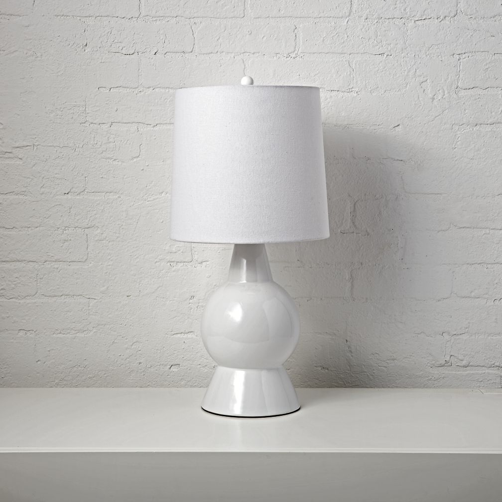 White ceramic table lamp the land of nod geotapseo Images