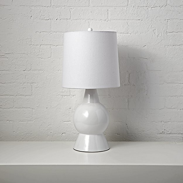 Beacon White Ceramic Table Lamp