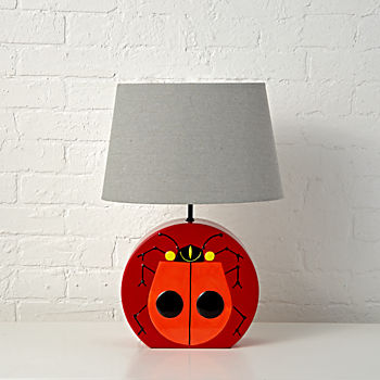 Charley Harper Ladybug Table Lamp