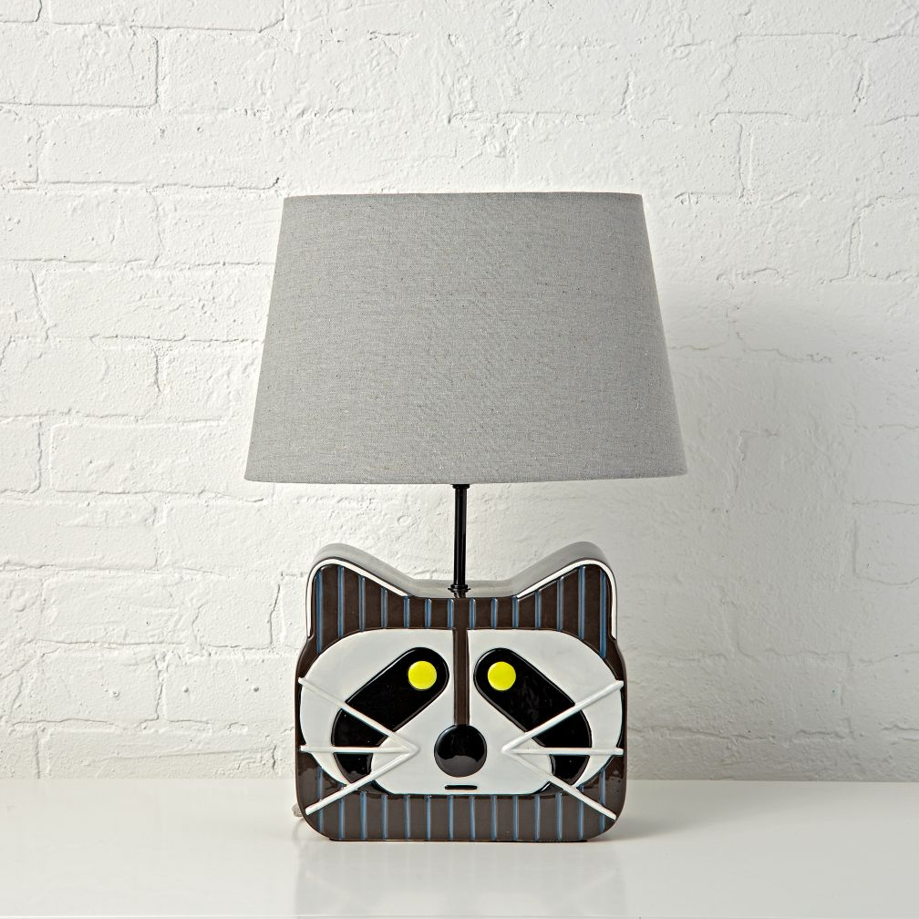Charley Harper Raccoon Table Lamp