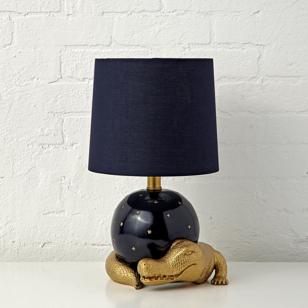 Kids table bedside lamps the land of nod genevieve gorder alligator table lamp geotapseo Images