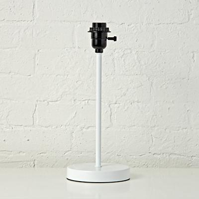 Mix and Match White Table Lamp Base