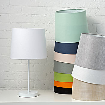 Mix and Match White Table Lamp Base. Kids Table   Bedside Lamps   The Land of Nod