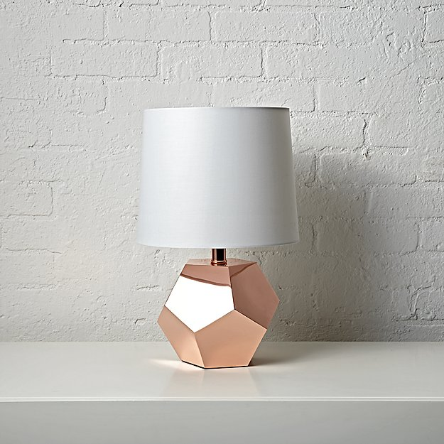 Geometric Rose Gold Table Lamp