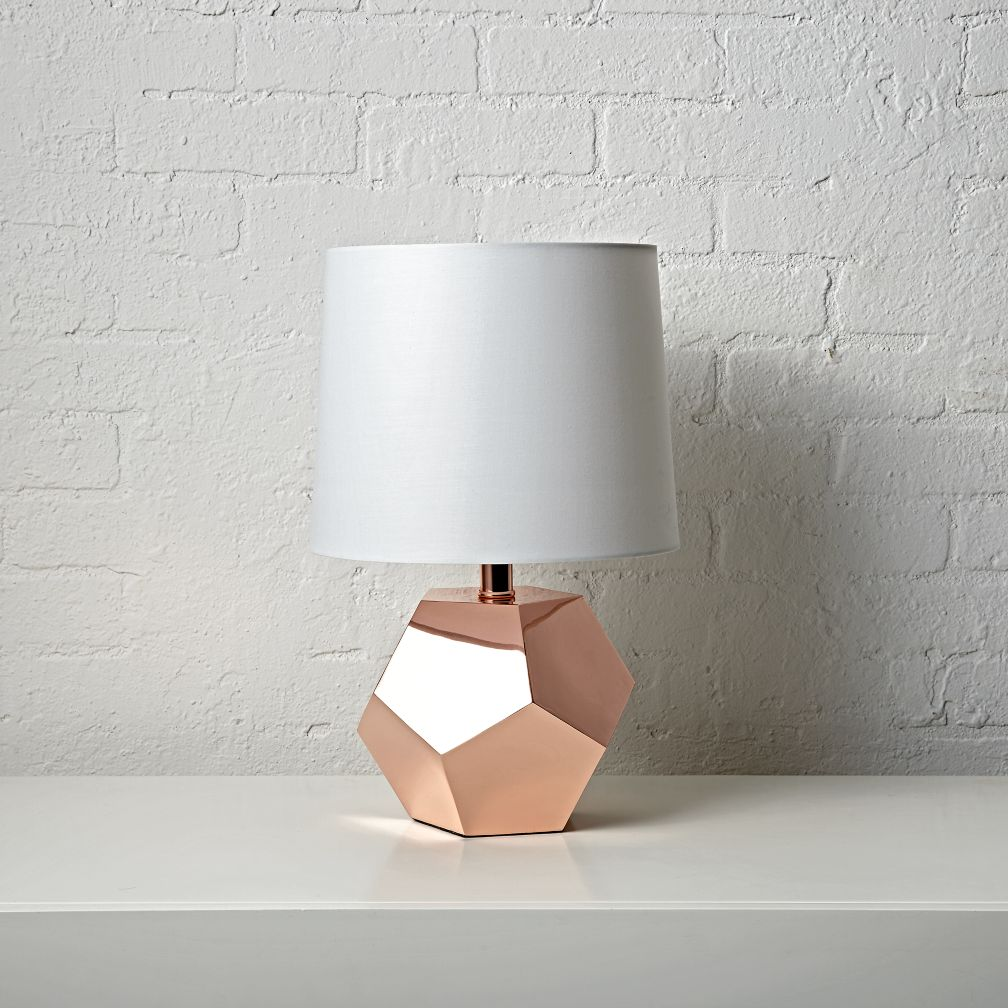 Geometric Rose Gold Lamp
