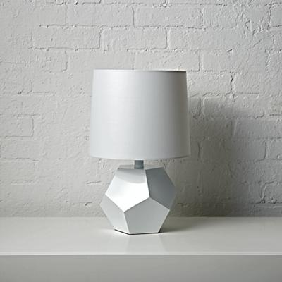 Geometric White Lamp