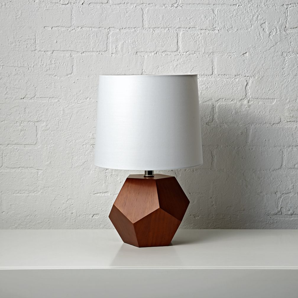 Geometric wooden table lamp the land of nod geotapseo Choice Image
