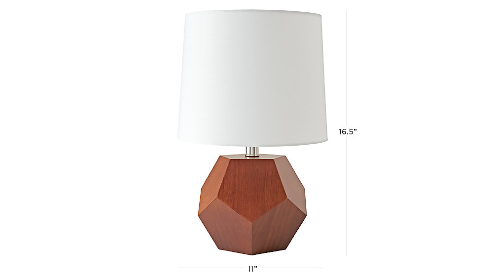 geometric wooden table lamp the land of nod. Black Bedroom Furniture Sets. Home Design Ideas
