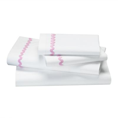 Queen Ric Rac Sheet Set (Pink)