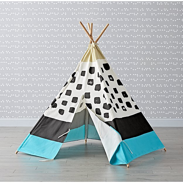 Blue and Black Abstract Teepee