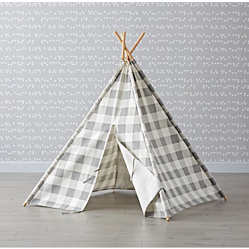 Grey Buffalo Check Teepee