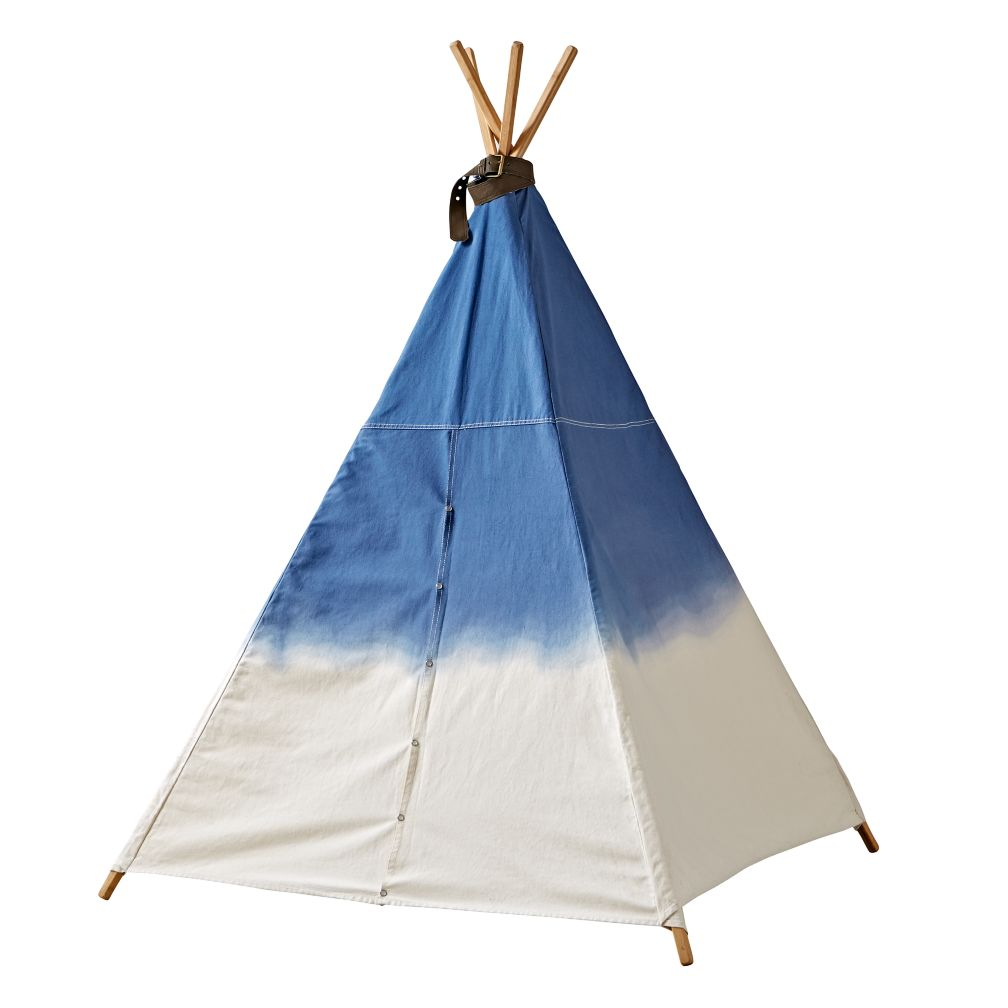 A Teepee To Call Your Own Dip Dye Denim The Land Of Nod