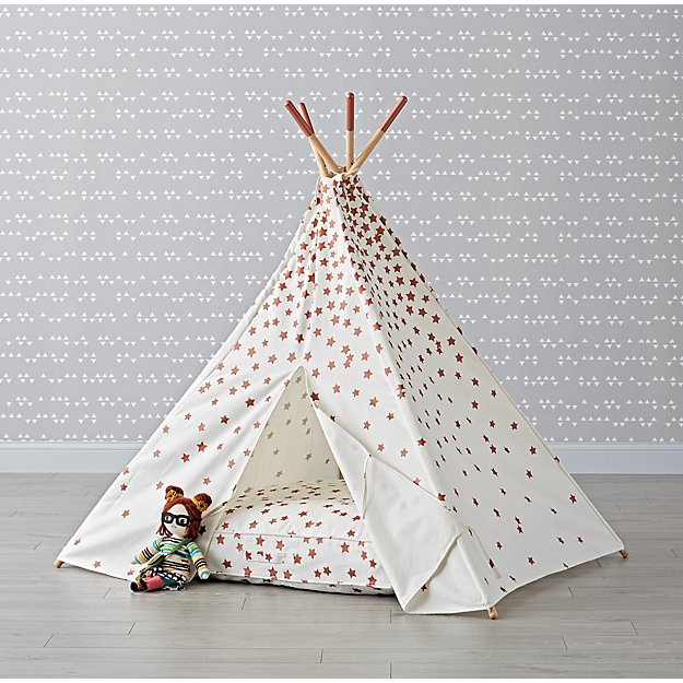 Rose Gold Star Teepee and Cushion Set