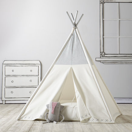 Kids Teepee Land of Nod great for indoor pretend camping trip