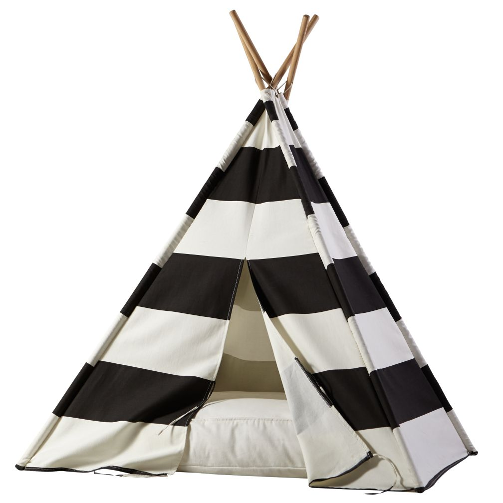 A Teepee Amp Cushion To Call Your Own Set Black Stripe