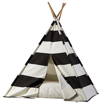 A Teepee  & Cushion to Call Your Own Set (Black Stripe)