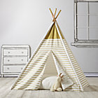 Gold Metallic A Teepee & Cushion to Call Your Own Set