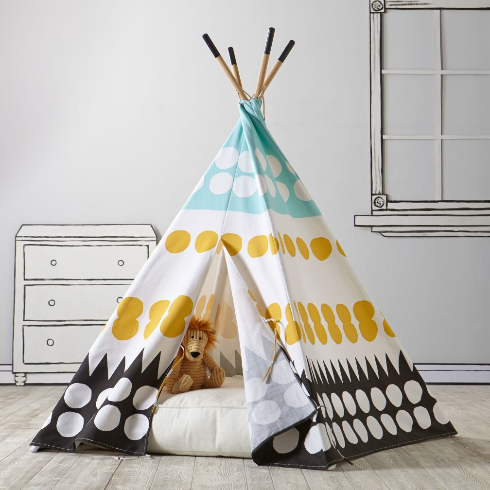 A Teepee Amp Cushion To Call Your Own Set Multi Dot The