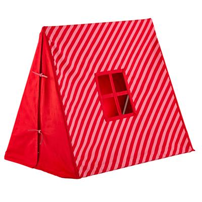 Indoor Explorer Pup Tent (Pink Stripe)
