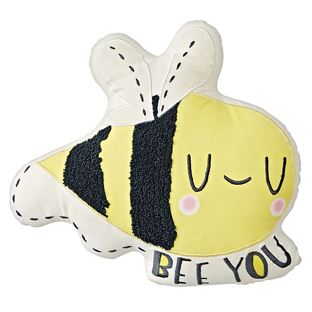 """Bee You"" Bumble Bee Throw Pillow"