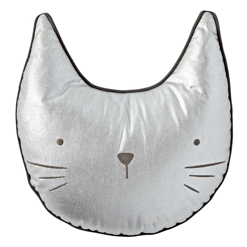 Metallic Cat Throw Pillow