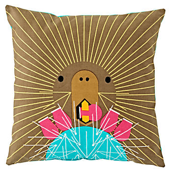 Charley Harper Prickly Pear Throw Pillow