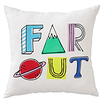 """Far Out"" Space Throw Pillow"