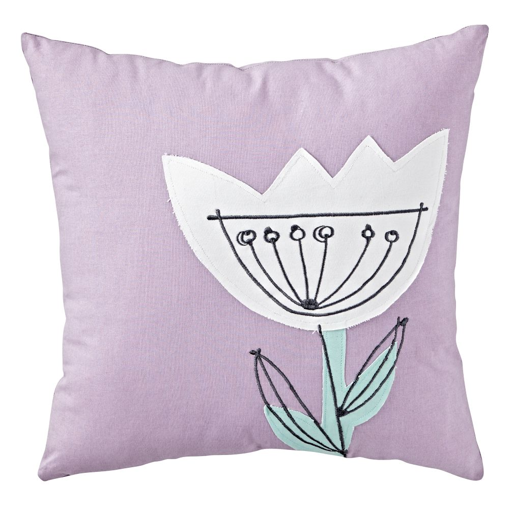 Flower Sketch Throw Pillow