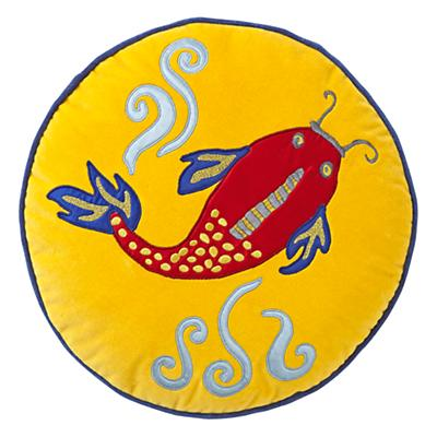 Throw_Pillow_Koi_Fish_Yellow