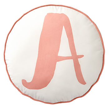 Lovely Letter 'A' Throw Pillow
