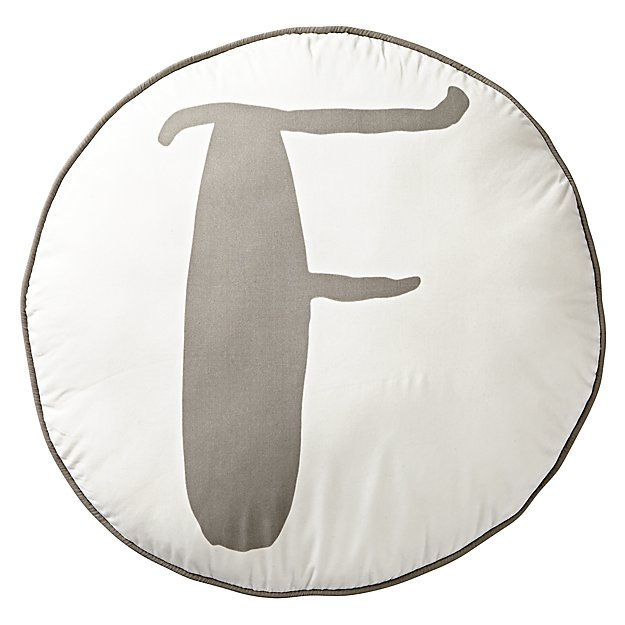 Lovely Letter 'F' Throw Pillow