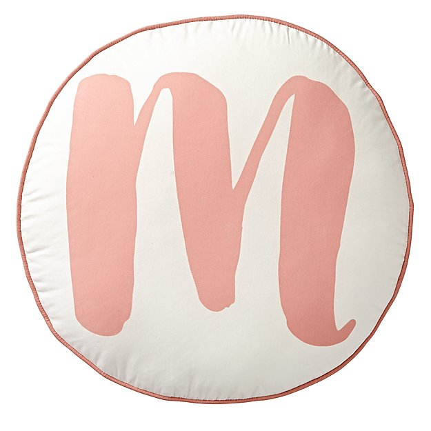 Lovely Letter 'M' Throw Pillow