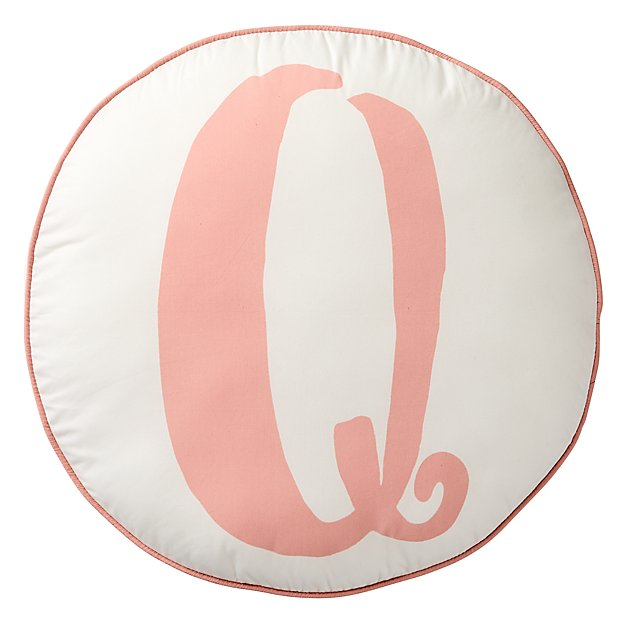 Lovely Letter Q Throw Pillow The Land of Nod