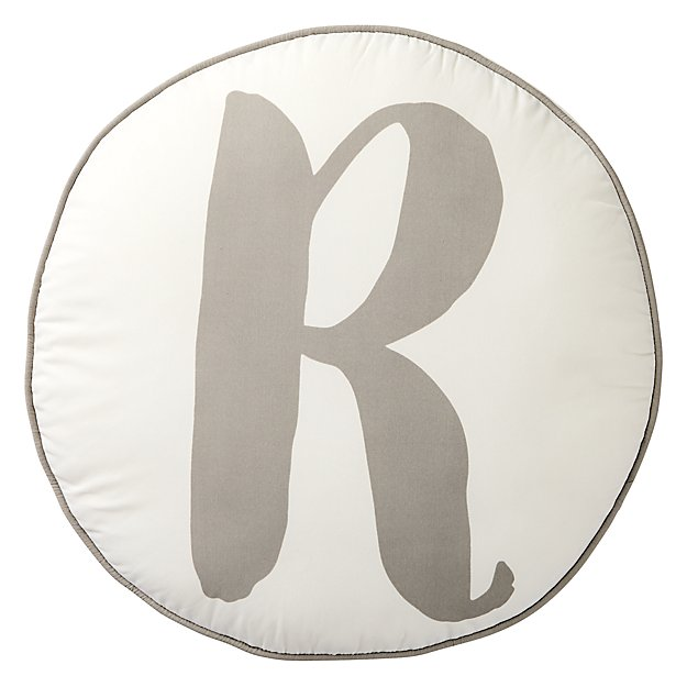 Lovely Letter 'R' Throw Pillow