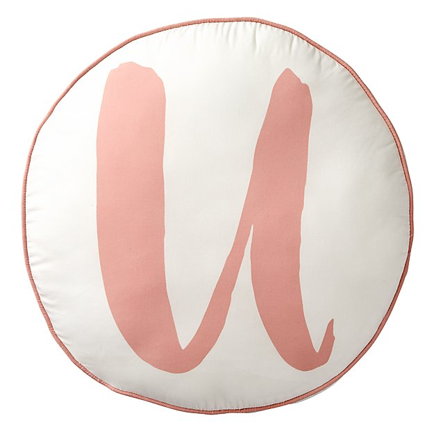 Lovely Letter 'U' Throw Pillow
