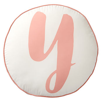 Lovely Letter 'Y' Throw Pillow
