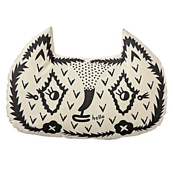 Roxy Marj Wolf Throw Pillow