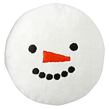 Snow Day Snowman Throw Pillow