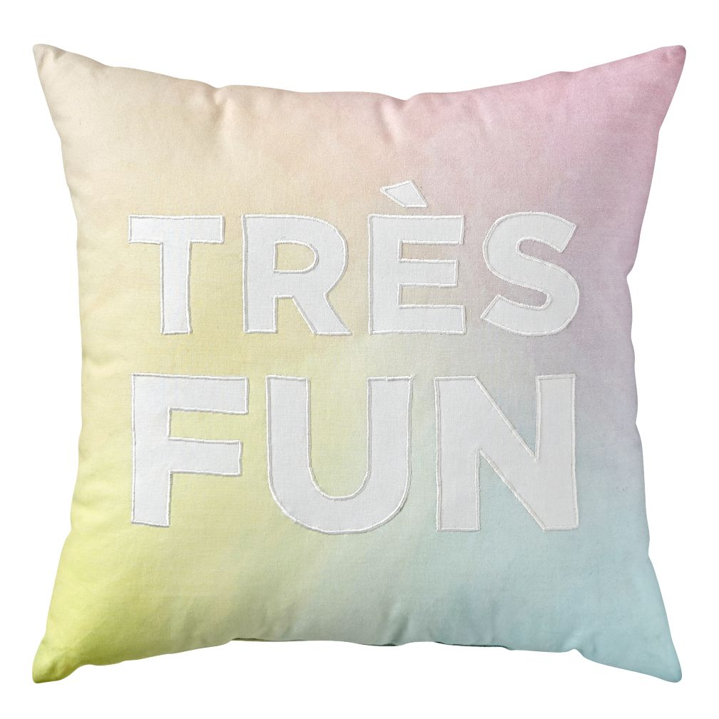 Tres Fun Throw Pillow