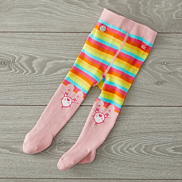 Baby Bling Care Bears Pink Tights